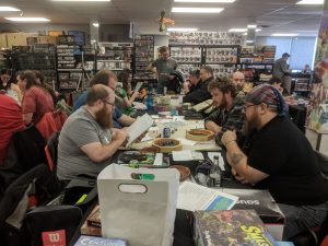Dungeon Crawl Classics being taught at The CG Realm a FLGS in Windsor Ontario