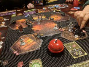 The final battle in scenario 21 in Gloomhaven.