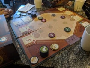 A game of War Chest from AEG in progress.