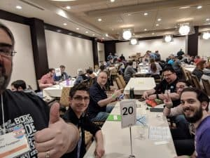 A #Tabletoselfie from a Hydro Hacker Operatives game at Breakout Con 2018