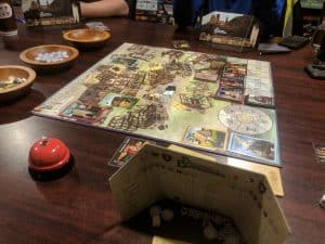 The start of a game of Builders of Blankenburg from Cobblestone Games