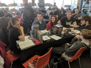A group playing Dungeons & Dragons at The CG Realm