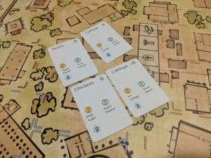 Prototype cards from Fields and Flocks a new expansion for Builders of Blankenburg.