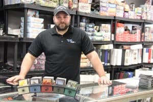 Jeremy one of the owners of The CG Realm game store in Windsor Ontario
