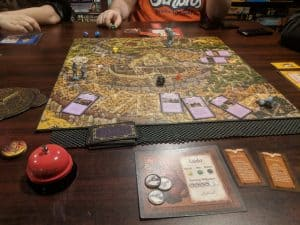 A picture of the board mid game, from Jim Henson's Labyrinth