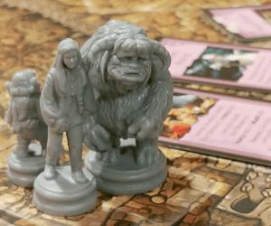 Labyrinth Minis Closeup - Jim Henson's Labyrinth Board Game - Review