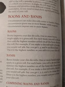 Except from Shadow of the Demon Lord on Banes and Boons.