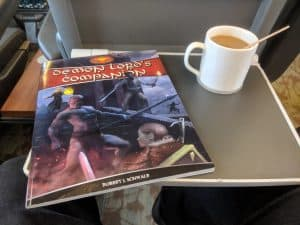 Demon Lords Companion, my reading material for the train ride up to Toronto.