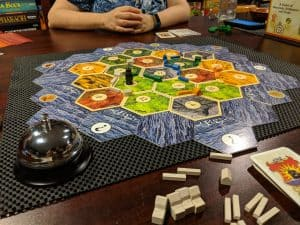 The Classic Settlers of Catan considered light by many but actually rather hard to learn at first.