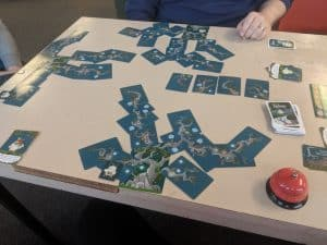 End of game state at the end of the card game Kodama