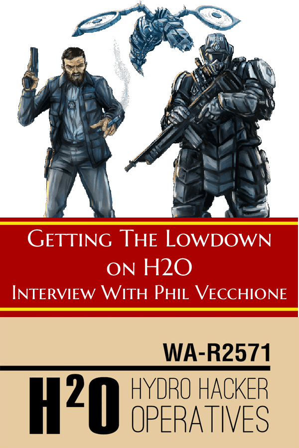 We interview Phil Vecchione about his new RPG Hydro Hacker Operatives #Podcast #Interview #RPG #PBtA #TabletopBellhop #tabletop