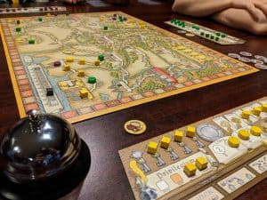Hansa Teutonica is on the low end of the heavy game scale.