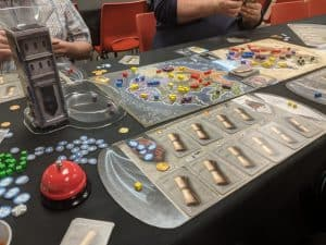 A picture of the board game Immortals from Queen Games