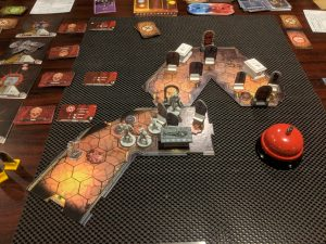 Shot of the cooperative board game Gloomhaven
