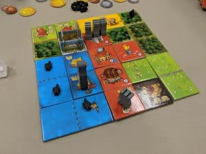 A shot of a finished kingdom in Queendomino