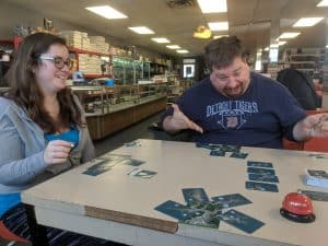 A three player game of Kodama The Tree Spirits