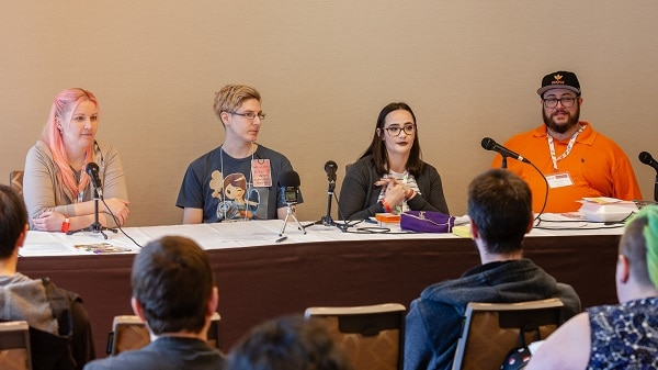 Panelists at Breakout Con in Toronto, Ontario.