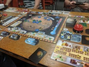 Terraforming Mars being played at the FLGS.