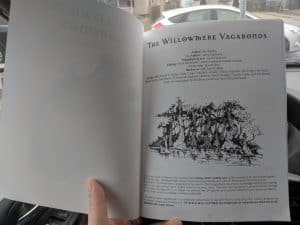 The introduction of The Willowmere Vagabonds.