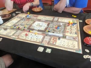 Playing the hot new board game Teotihuacan