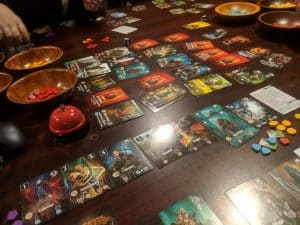 Nearing the end of a game of Valeria Card Kingdoms