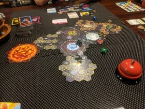 A picture of the sci-fi board game Xia: Legends of a Drift System.