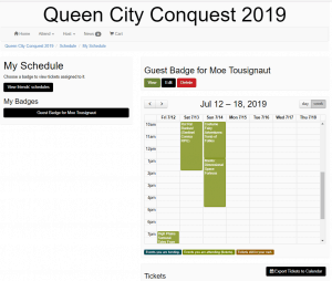 My Queen City Conquest Schedule