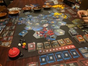 Twilight Imperium Fourth Edition about an hour in.
