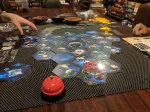 Twilight Imperium Fourth Edition set up and ready to play.