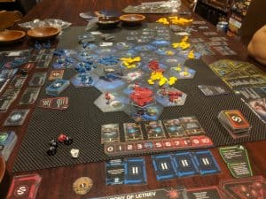 Round five of Twilight Imperium Fourth Edition.