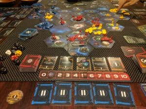 Twilight Imperium Fourth Edition being played.