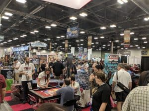 A random shot of the dealer hall at Origins Games Fair