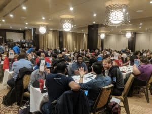 The amazing roleplaying room at Breakout Con in Toronto. A great convention for roleplayers.