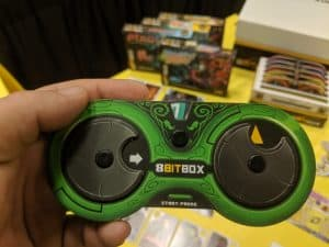 """A """"controller"""" from the 8Bit Box from Iello."""