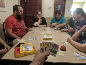 Awesome folk playing an awesome game: Bohnanza
