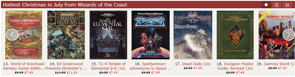 DnD on Sale PDF - The DriveThru RPG Christmas in July Roleplaying Game Sale is Live!