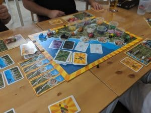 The final game of our first night at EZY mode was Cinque Terre a hidden gem, next step game from Rio Grande.