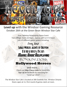 A poster created for a Windsor Gaming Resource Level Up Event.