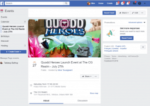 Example Facebook event page.