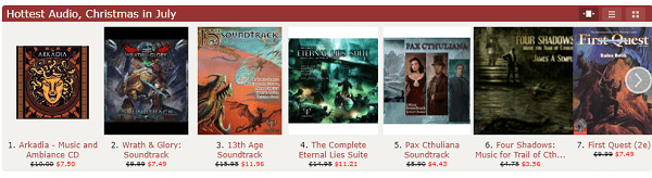 RPG audio tracks on sale - The DriveThru RPG Christmas in July Roleplaying Game Sale is Live!