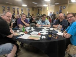 The players in Eric Simon's game of Sentinel Comics.