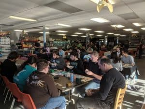 A very packed CG Realm on game night.