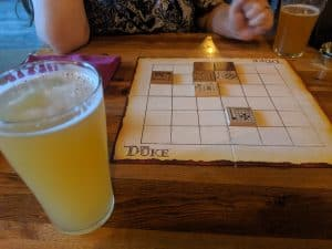 Playing The Duke at a local brewery.