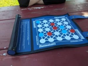 The board game Zenteeko, a great board game for playing outdoors.