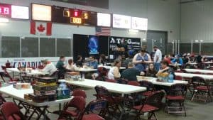 The tabletop gaming area at The Man's Expo
