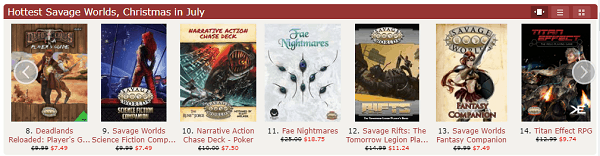 savage worlds RPGS on sale - The DriveThru RPG Christmas in July Roleplaying Game Sale is Live!