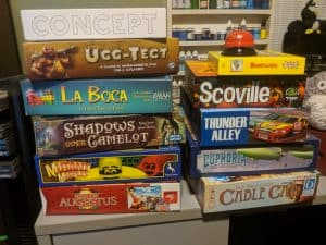 A pile of games with lots to pick from. How do you decide what to play?