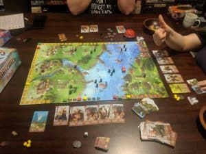 A big thumbs up from my wife for the board game Raiders of the North Sea.