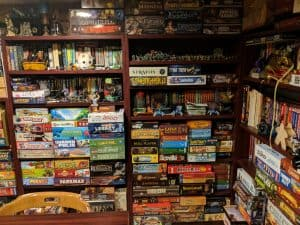 A shot of part of the Tabletop Bellhop's game room.
