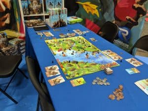 The Raiders of the North Sea Demo Table at Origins Game Fair 2018